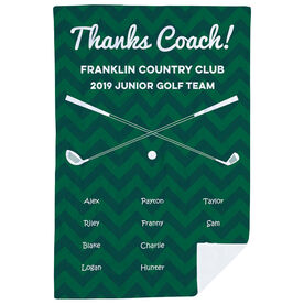 Golf Premium Blanket - Personalized Thanks Coach Chevron