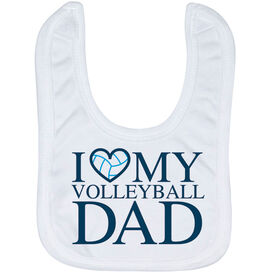 Volleyball Baby Bib - I Love My Volleyball Dad
