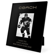 Hockey Engraved Picture Frame Coach