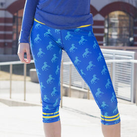 Running Performance Capris With Zipper Pocket- Run With Unicorns