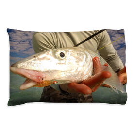 Fly Fishing Pillowcase - Close Up