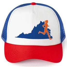 Running Trucker Hat - Virginia Female Runner