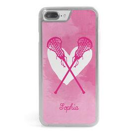 Girls Lacrosse iPhone® Case - Watercolor Heart