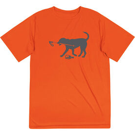 Skiing Short Sleeve Performance Tee - Sven The Ski Dog