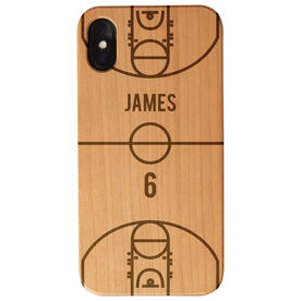 Basketball Engraved Wood IPhone® Case - Court