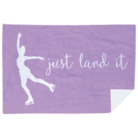 Figure Skating Premium Blanket - Just Land It