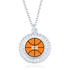 Basketball Braided Circle Necklace - Ball With Mom