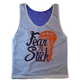 Guys Lacrosse Pinnie - Fear The Stick (Stacked)