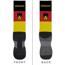 Soccer Printed Mid-Calf Socks - Germany