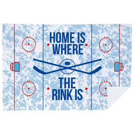 Hockey Premium Blanket - Home Is Where The Rink Is (Rink)