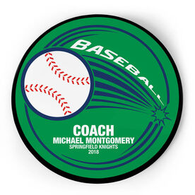 Baseball Circle Plaque - Home Run Coach With 3 Lines