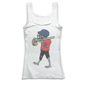 Softball Vintage Fitted Tank Top - Zombie Player