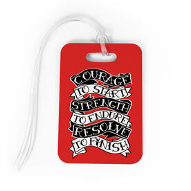 Running Bag/Luggage Tag - Courage To Start Tattoo