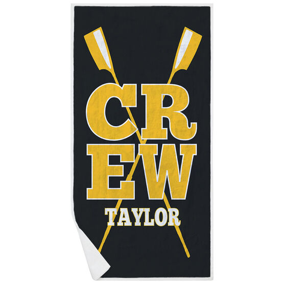 Crew Premium Beach Towel - Personalized with Crossed Oars
