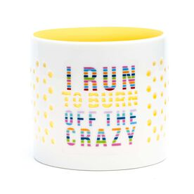 Soleil Home™ Running Porcelain Candle Holder - I Run to Burn off the Crazy