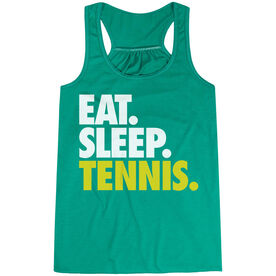 Tennis Flowy Racerback Tank Top - Eat Sleep Tennis (Bold)