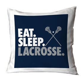 Guys Lacrosse Decorative Pillow - Eat Sleep Lacrosse