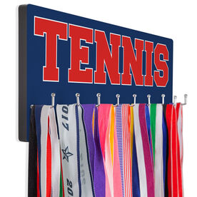 Tennis Hooked on Medals Hanger - Word