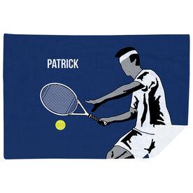 Tennis Premium Blanket - Closeup Male Player