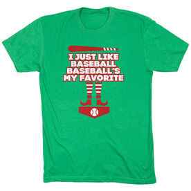 Baseball Short Sleeve T-Shirt - Baseball's My Favorite