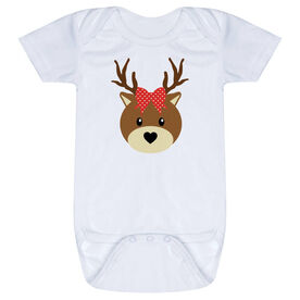 Baby One-Piece - Reindeer with Bow