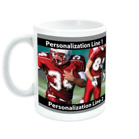 Football Coffee Mug Custom Photo with Color