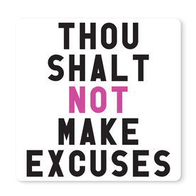 """Running 12"""" X 12"""" Removable Wall Tile - Thou Shalt Not Make Excuses"""