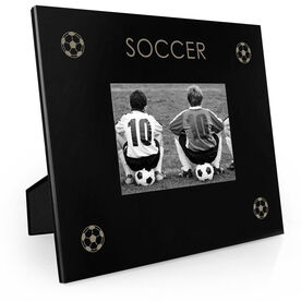 Soccer Engraved Picture Frame - Four Corners
