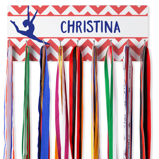 Gymnastics Hook Board Your Name With Gymnast Chevron
