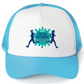Running Trucker Hat - Social Distance Runner 2020