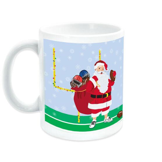 Football Coffee Mug Santa