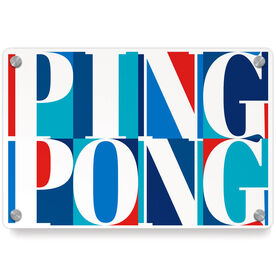 Ping Pong Metal Wall Art Panel - Ping Pong Mosaic