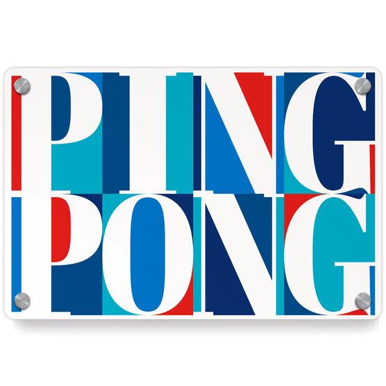 Ping Pong Metal Wall Art Panel - Ping Pong Mosaic