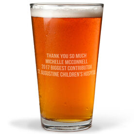 Personalized 16 oz. Beer Pint Glass - Your Text