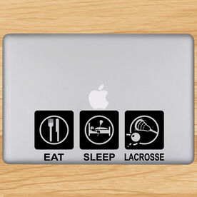 Eat Sleep Lacrosse Removable ChalkTalkGraphix Laptop Decal