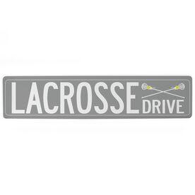 "Girls Lacrosse Aluminum Room Sign - Lacrosse Drive (4""x18"")"