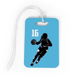 Basketball Bag/Luggage Tag - Personalized Female Player
