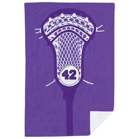 Guys Lacrosse Premium Blanket - Personalized Stick Head