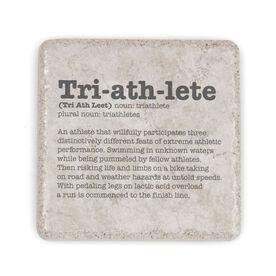 Triathlon Stone Coaster - Triathlete Definition