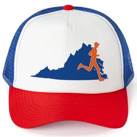 Running Trucker Hat - Virginia Male Runner