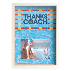 Swimming Premier Wooden Frame - Thanks Coach