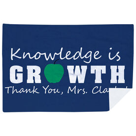 Personalized Teacher Premium Blanket - Knowledge is Growth
