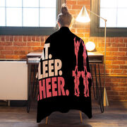 Cheerleading Premium Blanket - Eat. Sleep. Cheer. Horizontal