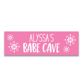 "Personalized 12.5"" X 4"" Removable Wall Tile - Babe Cave"