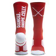 Hockey Woven Mid-Calf Socks - Dangle. Snipe. Celly.