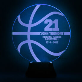 Basketball Acrylic LED Lamp Ball With 4 Lines and Number