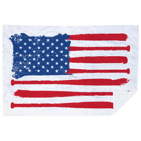 Baseball Premium Blanket - American Flag