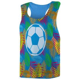 Soccer Racerback Pinnie - Tropical Palm Pattern