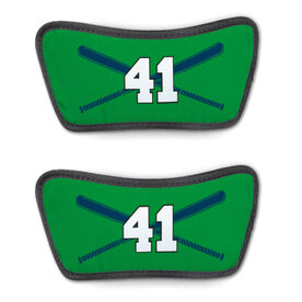 Baseball Repwell® Sandal Straps - Crossed Bats with Numbers