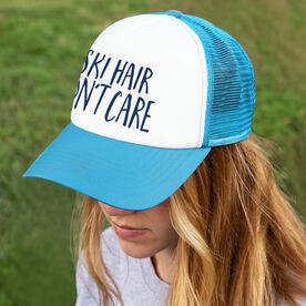 Skiing Trucker Hat - Ski Hair Don't Care